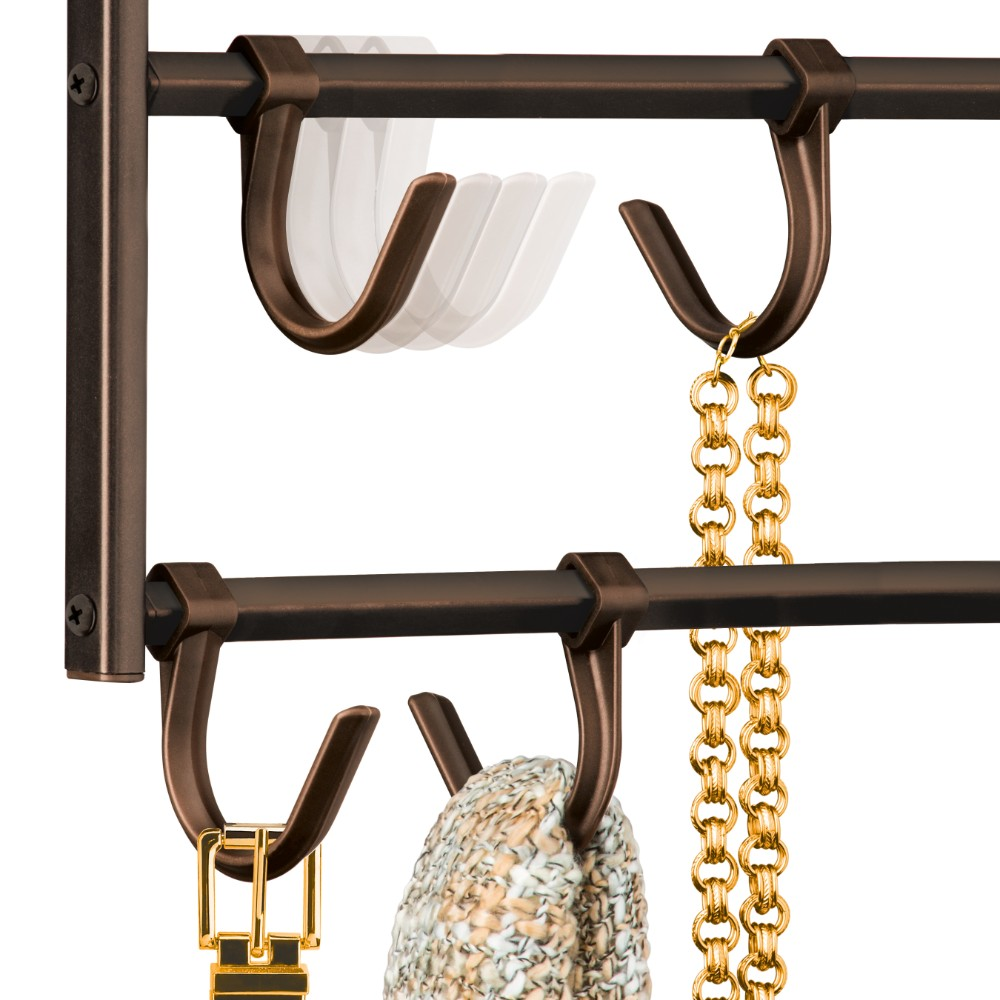 15 Hook Double Sided Hanging Accessory Organizer Lynk Inc