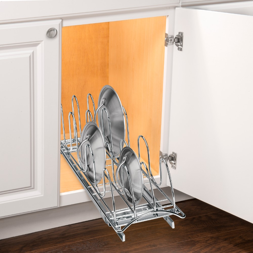 Lynk Roll Out Cabinet Organizer: 430021 Pull-Out Lid Tray Cabinet Organizer