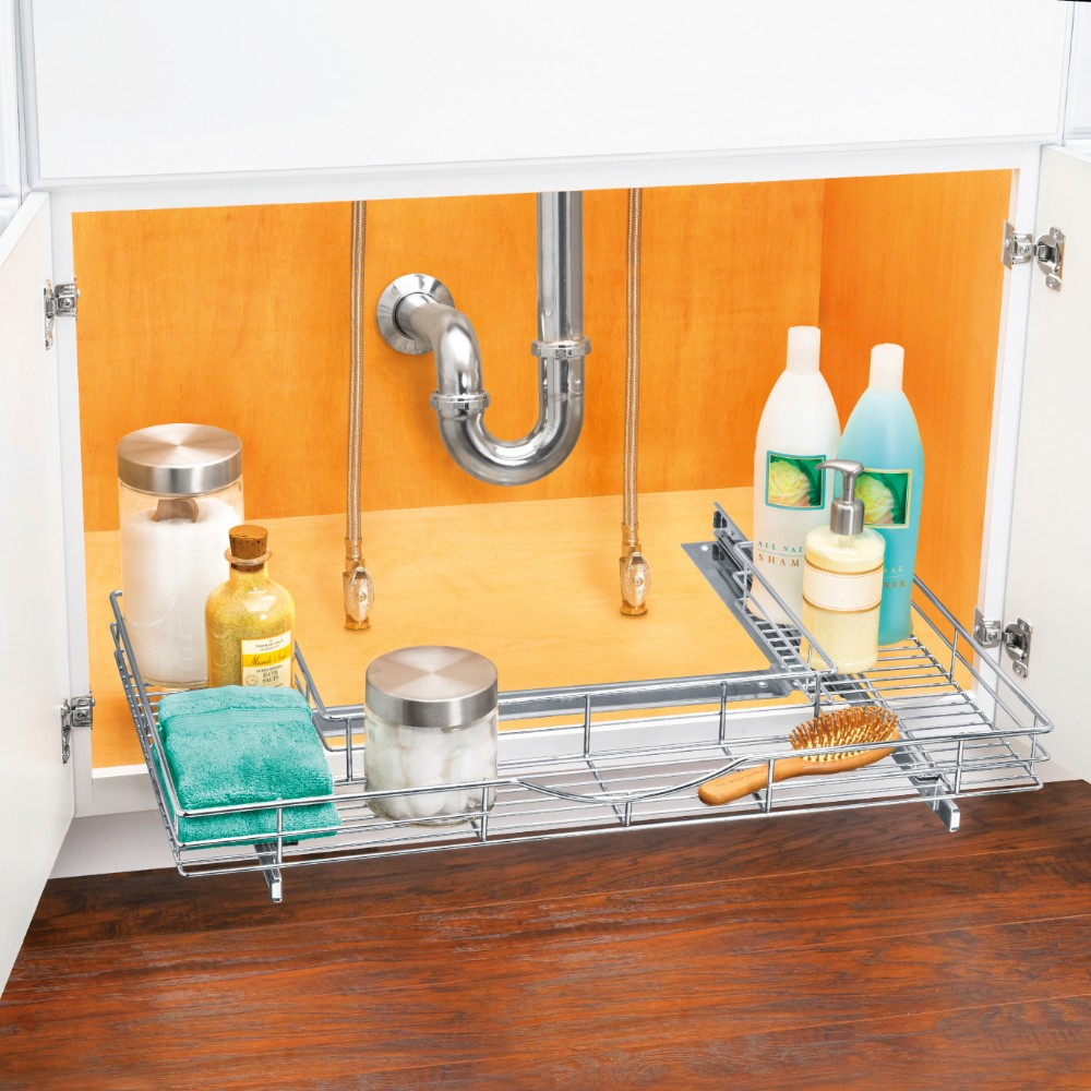 Under Sink Shelf Shelves That Slide Cabinet Pull Out: 453018 Pull-Out U-Shape Undersink Cabinet Organizer