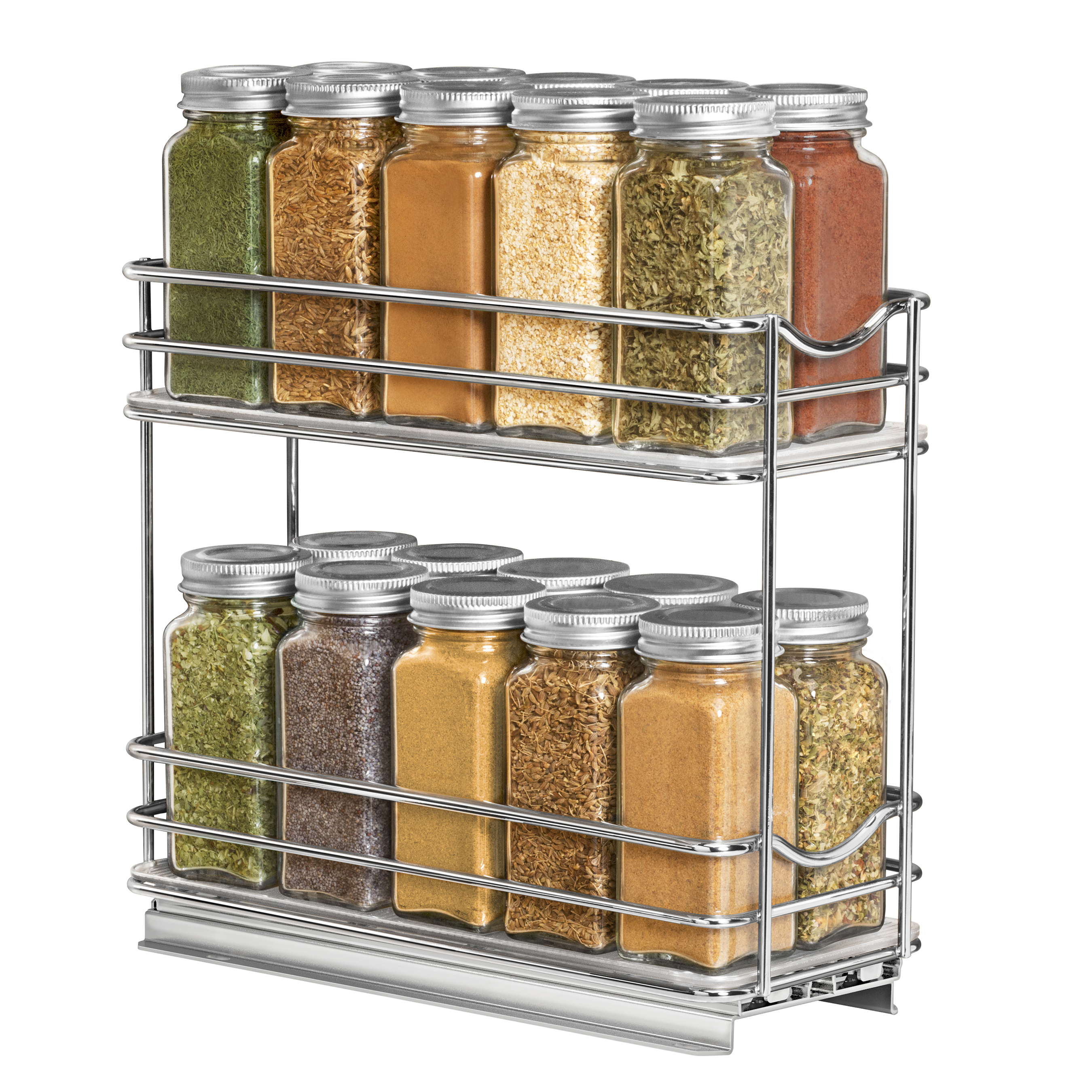 430422 Professional Roll Out Spice Organizer Two Tier ...